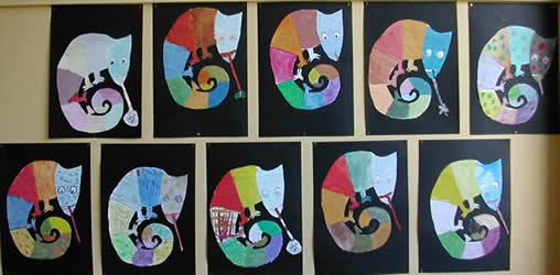 Bildnerische Erziehung In Der Volksschule Malen Chamäleon Kunterbunt