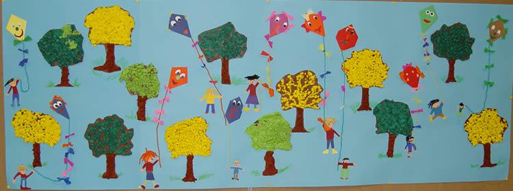 Be Herbst Zeichnen Malen Basteln In Der Volksschule