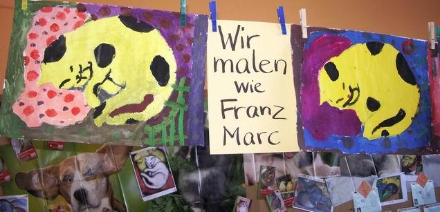 Schlafende KATZE Nach Franz MARC - Bildnerische Erziehung In Der