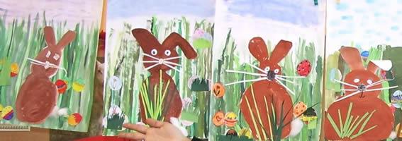 Bildnerische Erziehung In Der Volksschule Osterhasencollage