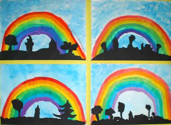 Regenbogen Malen Farben
